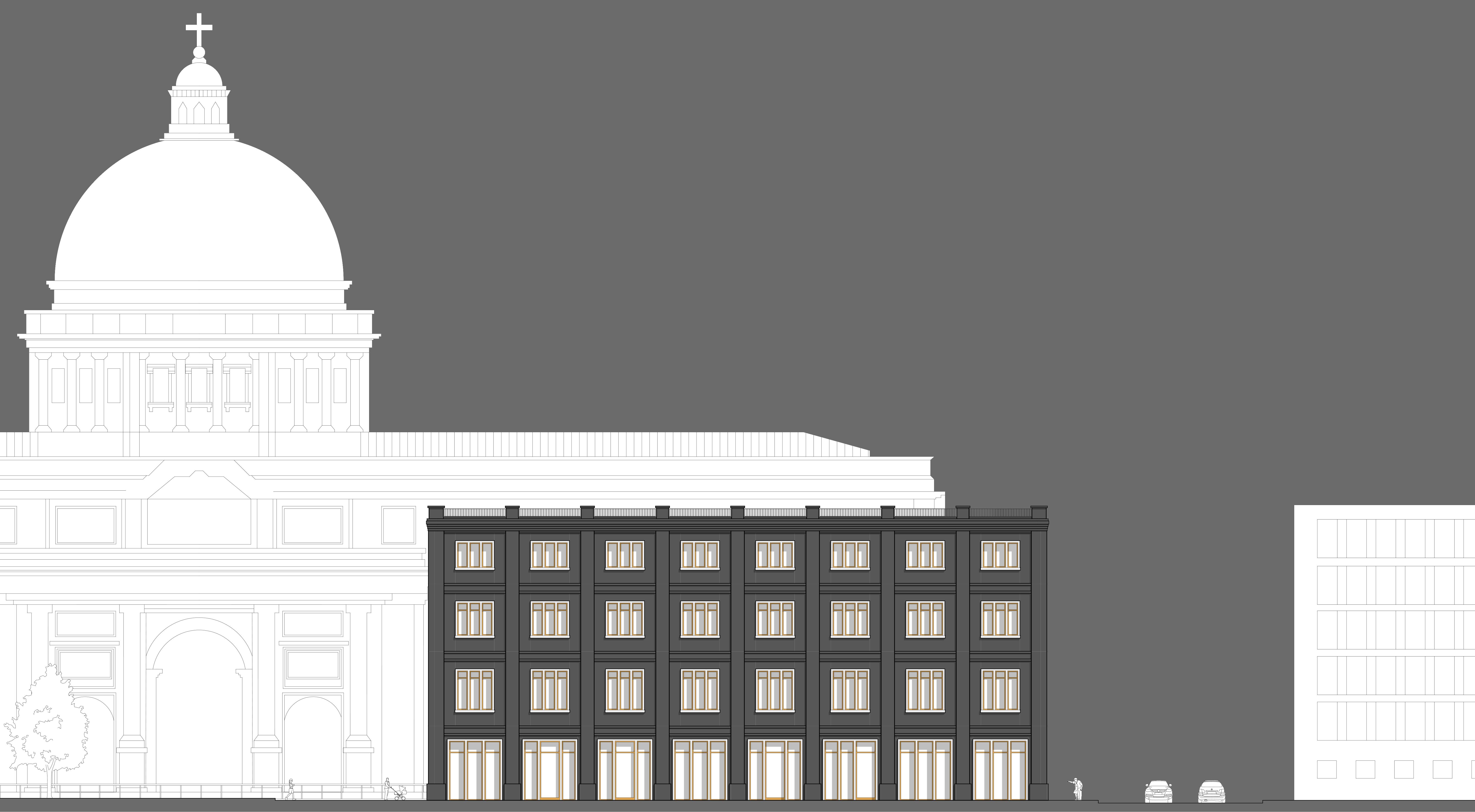 Bauakademie Ansicht auf das Stadtschloss